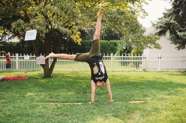 cartwheel girl