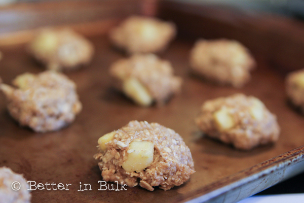 Gluten Free apple spice oatmeal cookies