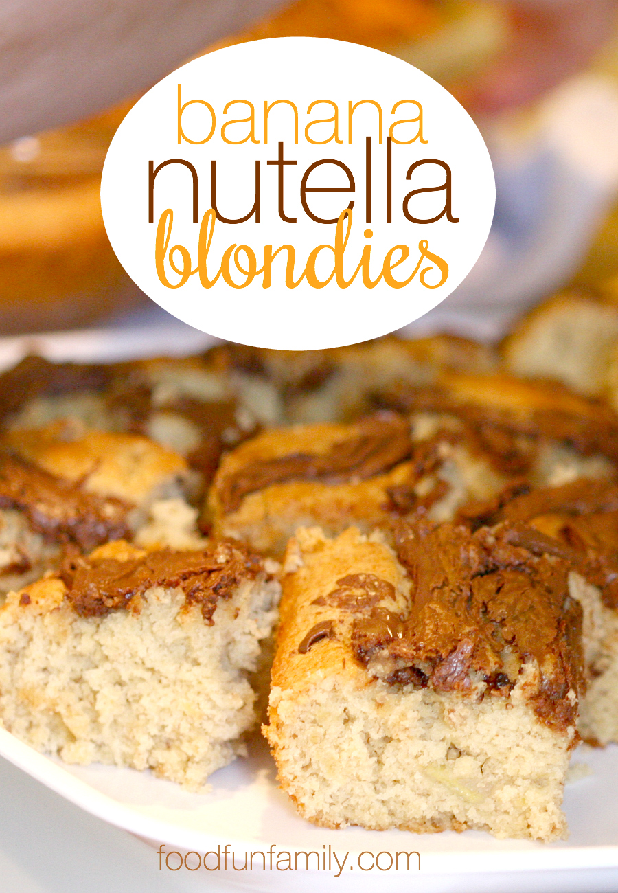 Love Nutella? These Banana Nutella blondies are the perfect way to enjoy some Nutella in your life. In other words, you need these.