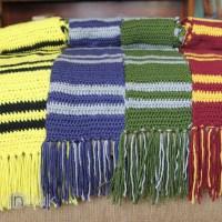 Harry Potter House Scarves {Free Crochet Pattern}