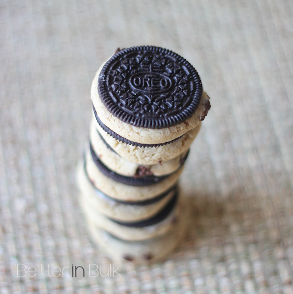 Chocolate chip cookies stuffed oreos