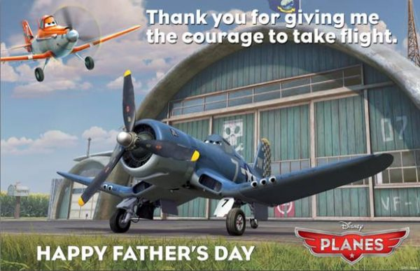 Planes Father's Day card