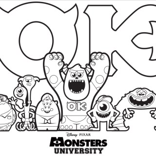 Monsters University BBQ Recipes & Coloring Sheet