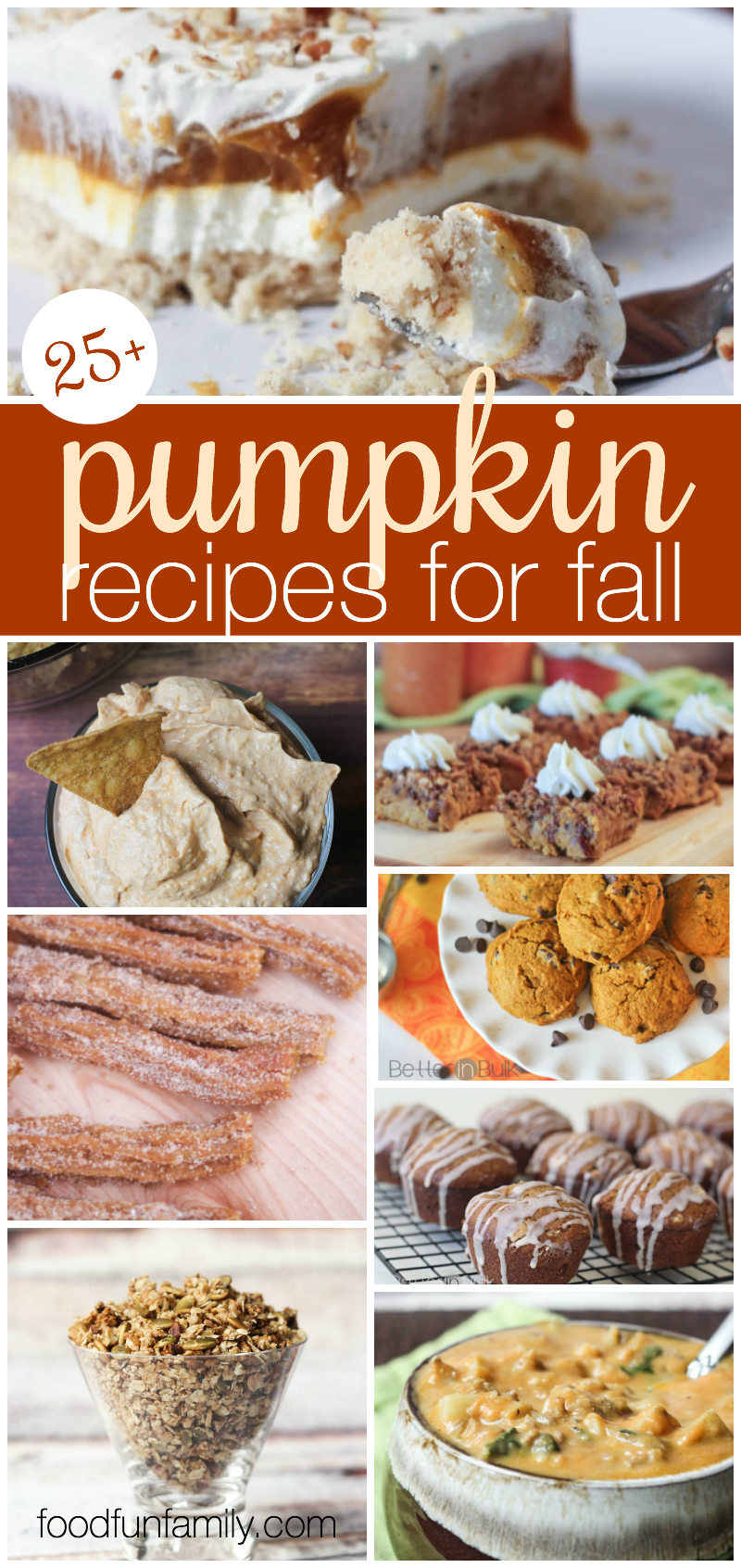 25 pumpkin recipes for the fall from Food Fun Family and friends