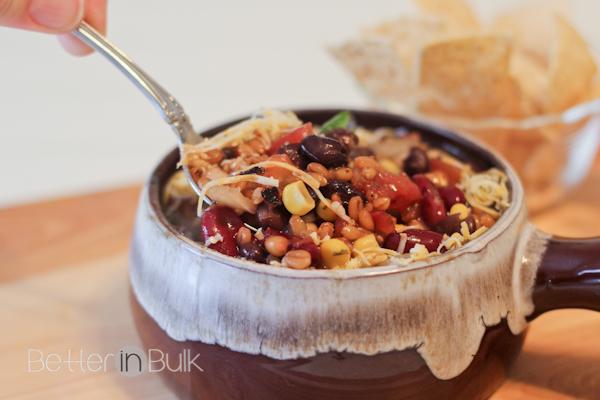 wheat berry vegetarian tortilla soup