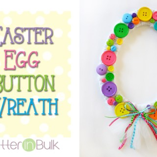 Spring Easter Egg Button Wreath
