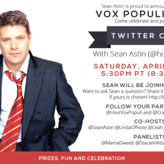 I'll Be Tweeting with Sean Astin – Join Me? #RaiseYourVox