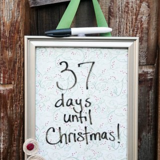 Easy Christmas Countdown Frame Craft