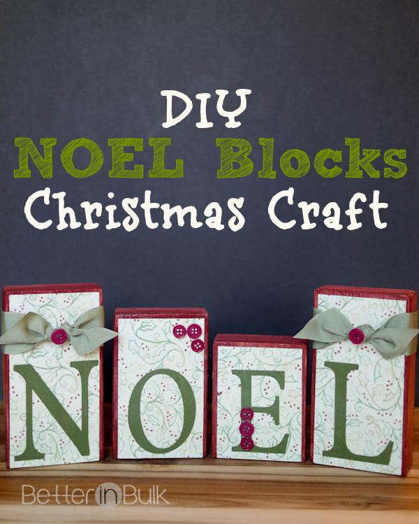 DIY Noel blocks Christmas craft