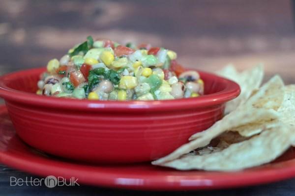Corn Avocado and Black Eyed Peas Salsa
