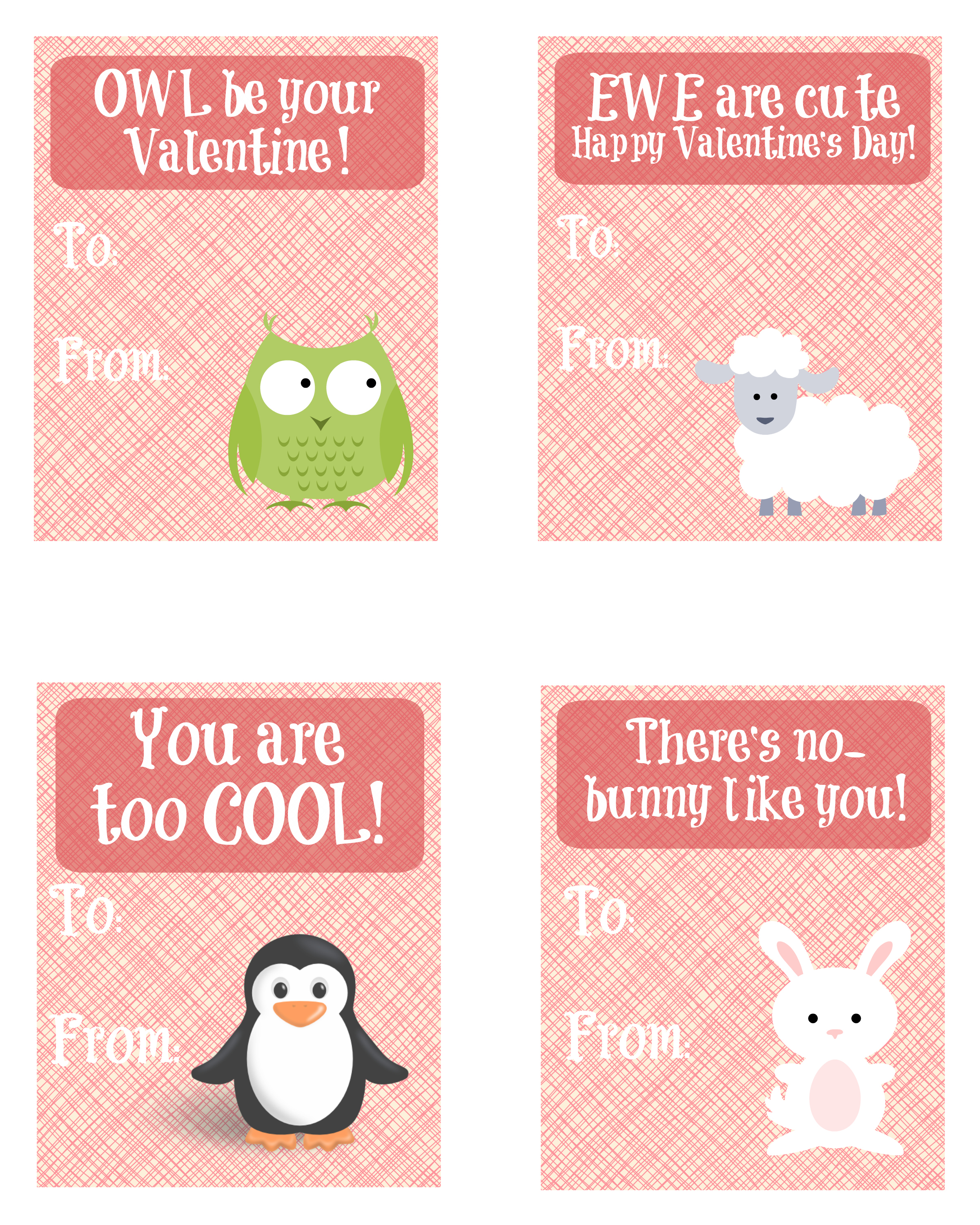 Cute Animal Valentine Cards Pictures to Pin ThePinsta – Animal Valentine Cards