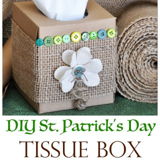 DIY St. Patrick's Day Tissue Box Make-Over