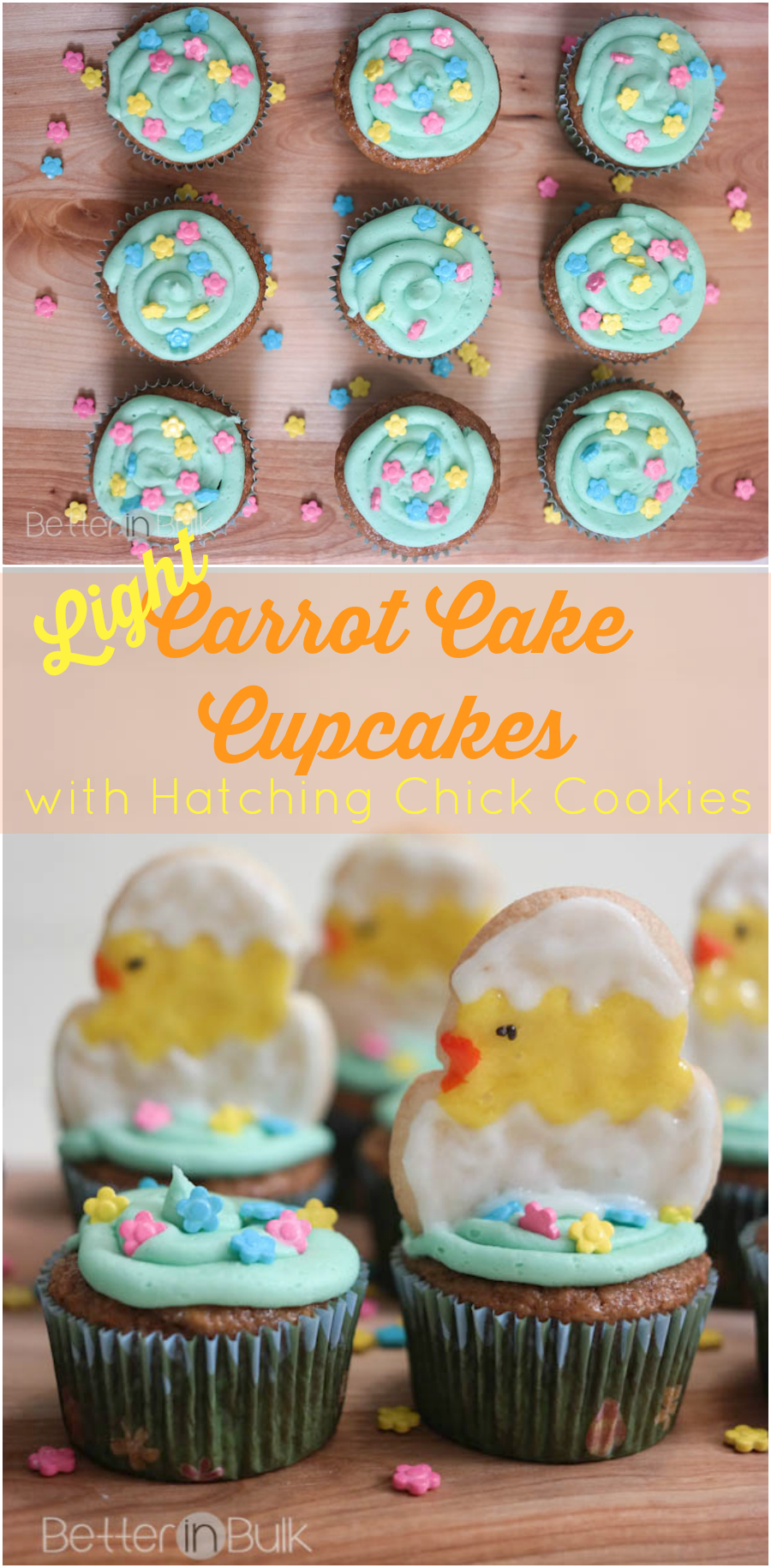 light carrot cake cupcakes