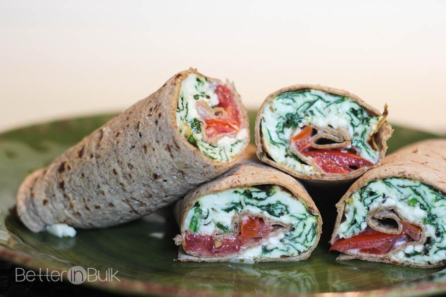 Spinach And Feta Wraps #AllWhitesEggWhites