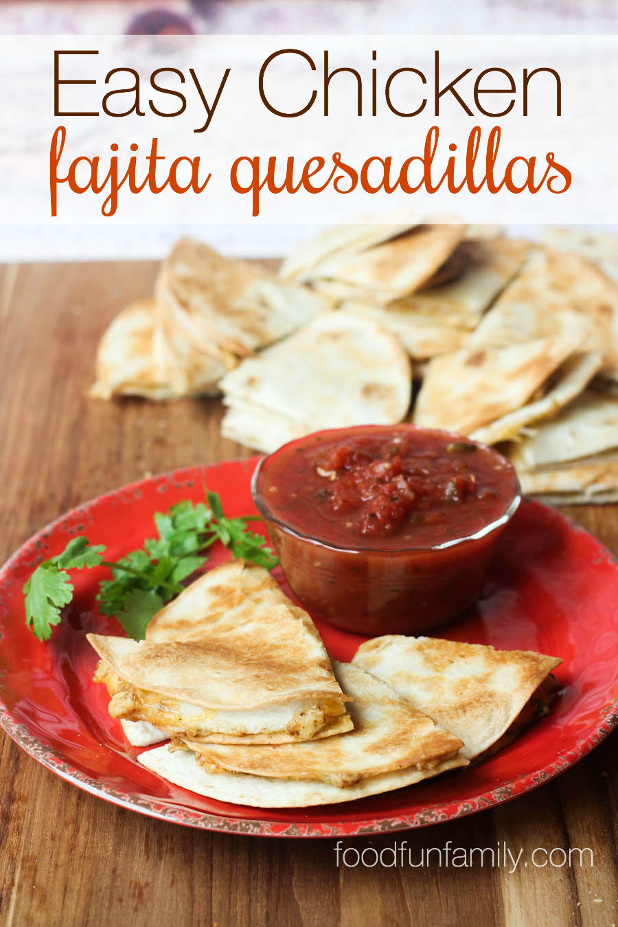 These easy chicken fajita quesadillas could not be any easier or more tasty! One simple trick makes this recipe SO much easier than any other chicken quesadilla recipe you've tried before!