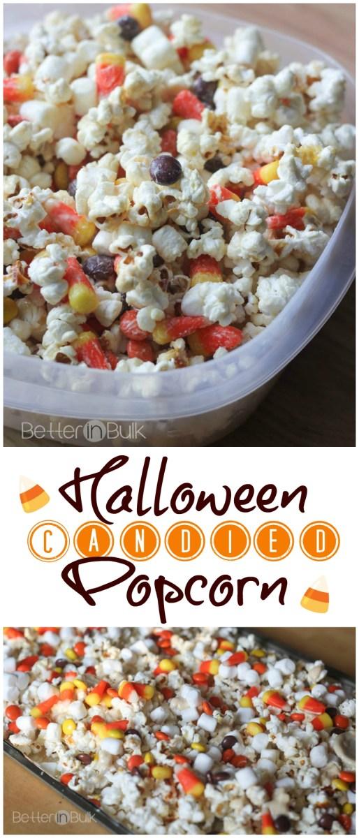 Halloween Candied Popcorn