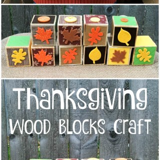 Thanksgiving Craft: {Give Thanks} Wooden Blocks