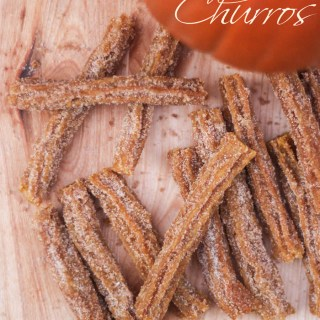 Mini Pumpkin Churros With Chocolate-Orange Dipping Sauce