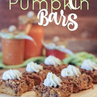Pecan Pumpkin Bars – Fresh Flavors Swap {Pumpkin Desserts}