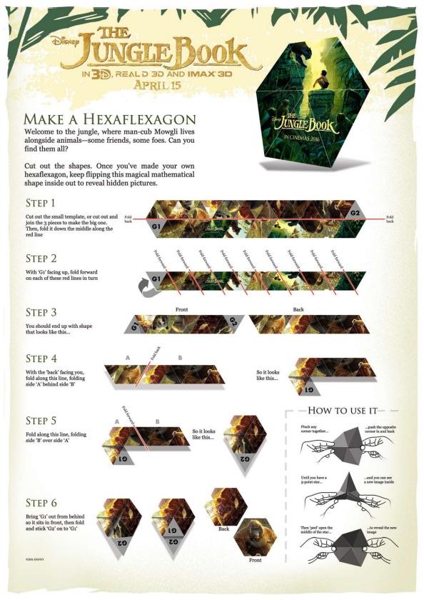 The Jungle Book Hexaflexagon