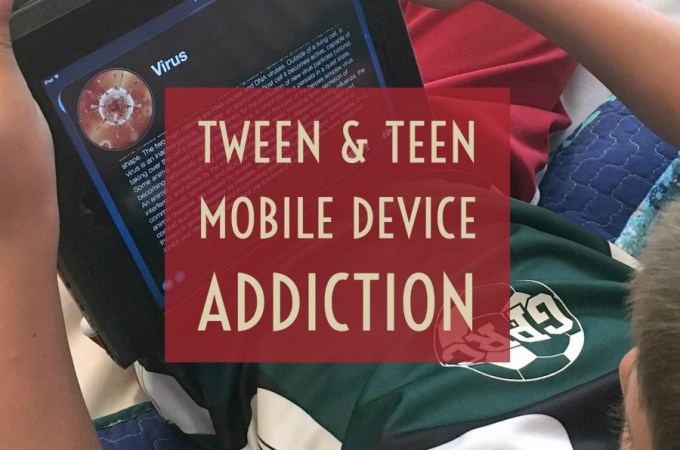 Tween and Teen mobile device addiction