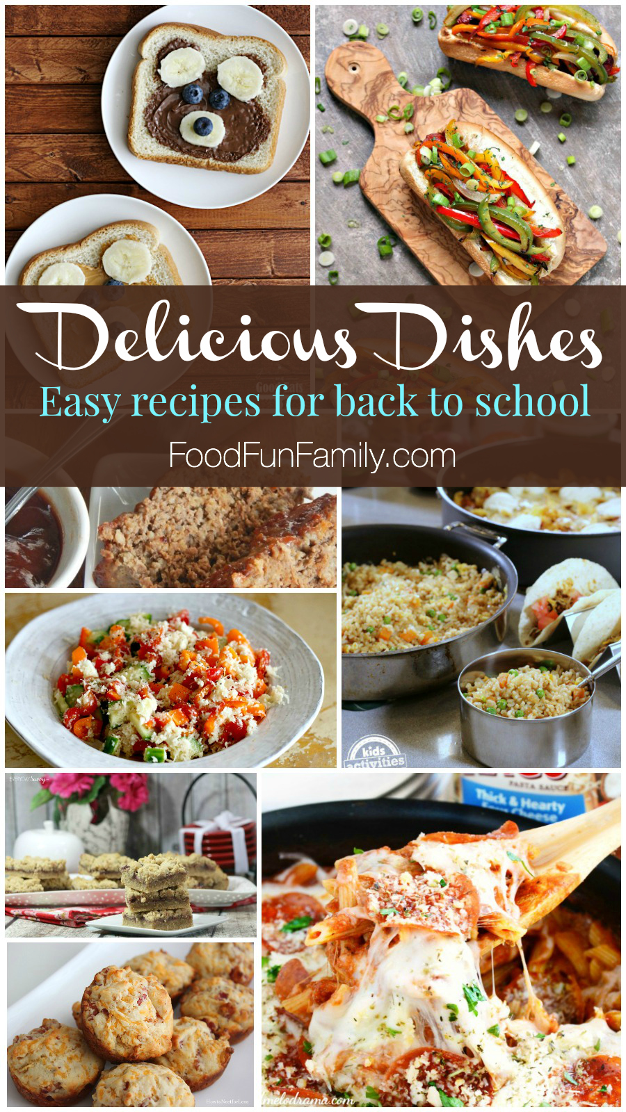 Delicious Dishes Recipes Party - with a collection of easy recipes for back to school season that the whole family will enjoy