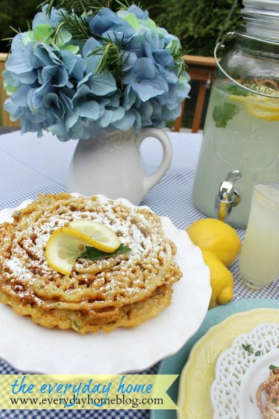 Homemade Funnel Cakes from The Everyday Home Blog
