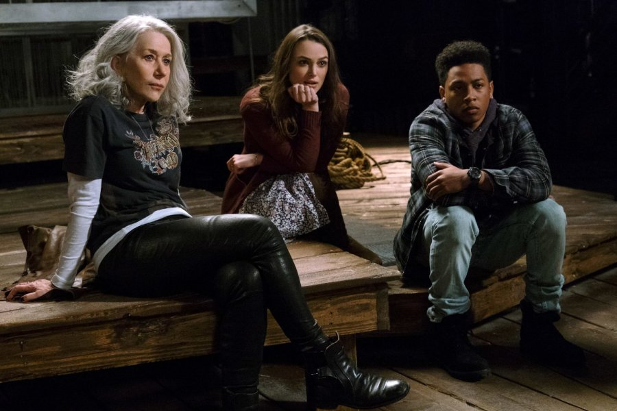 Helen Mirren, Keira Knightley, and Jacob Latimore in Collateral Beauty -- Photo by Barry Wetcher - © 2016 Warner Bros. Entertainment Inc., Village Roadshow Films North America Inc. and Ratpac-Dune Entertainment LLC