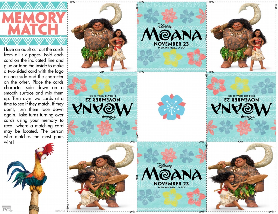 Moana Memory Match Game