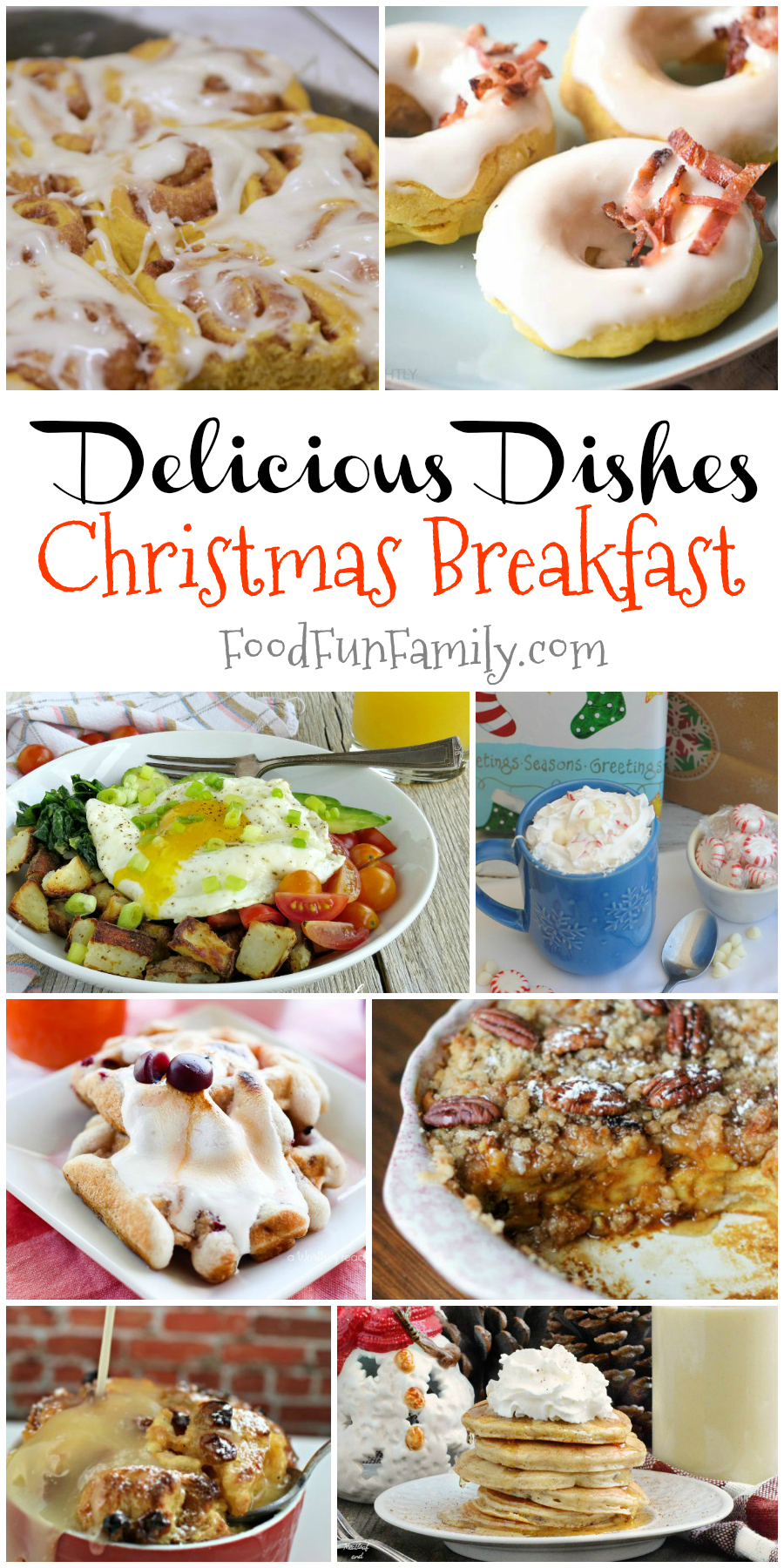Christmas morning breakfast recipes - featured breakfast ideas from Delicious Dishes Recipe Party