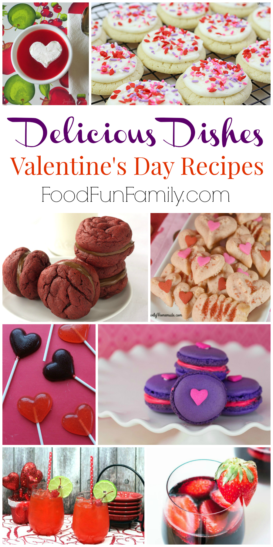 Fun and festive Valentine's Day Recipes from Delicious Dishes