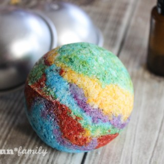 DIY Rainbow Bath Bombs