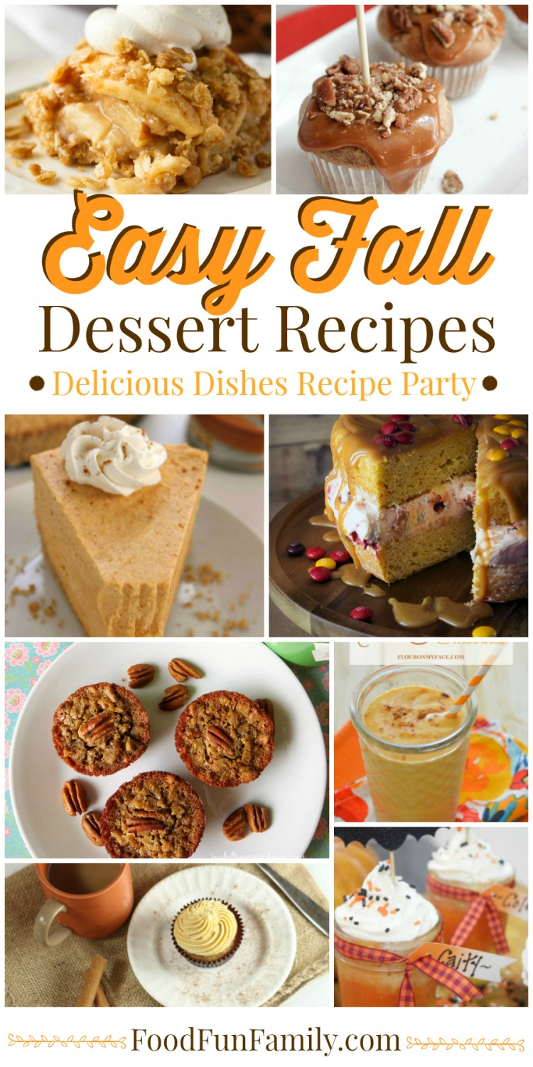 Easy Fall Dessert Recipes - from pumpkin treats to baking with apples, and more!