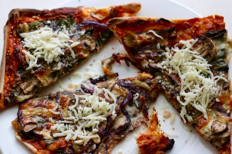 Cheesy Mushroom & Onion Pizza