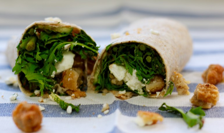 Mediterranean Faux Chicken Wrap