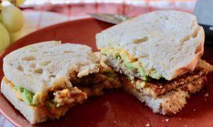 Cheesy Vegan Breakfast Sandwich