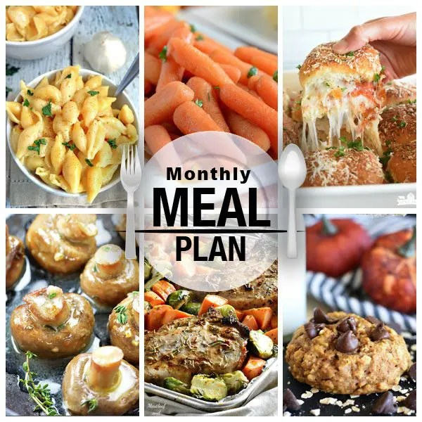 Monthly Menu Plan - October
