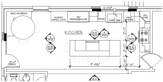 Overhead view of the Kitchen Plan