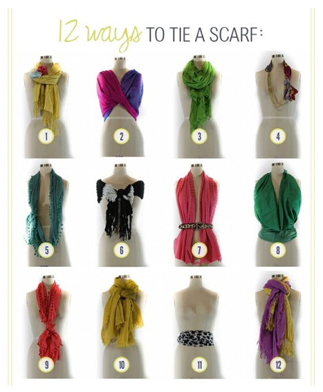 12 Ways to Wear a Scarf