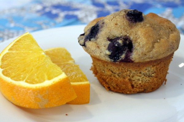 Lightened Up Blueberry Muffins