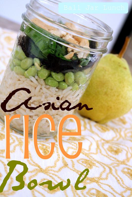 Ball Jar Lunch: Asian Rice Bowl