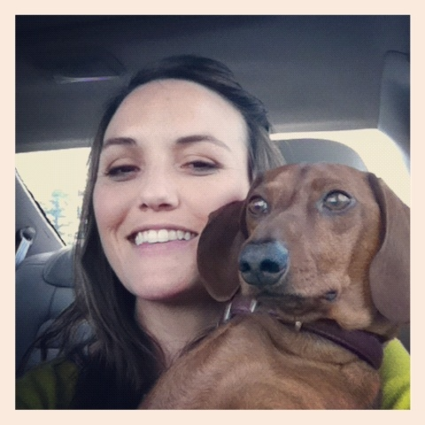 Rascal and I in the car