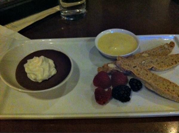 Chocolate Pot De Creme, Dessert, Top of the Mark, SF