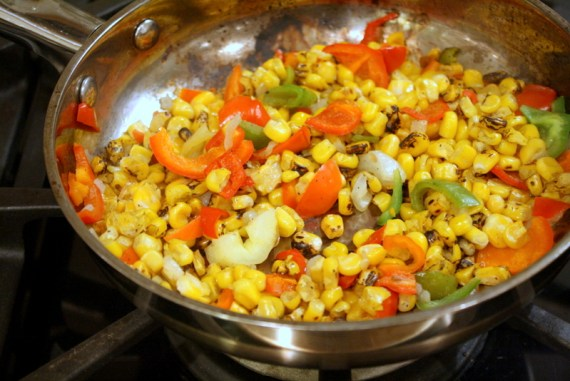 Sauteed Corn and Peppers