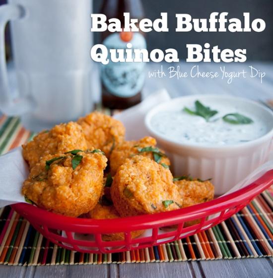 Baked Buffalo Quinoa Bites