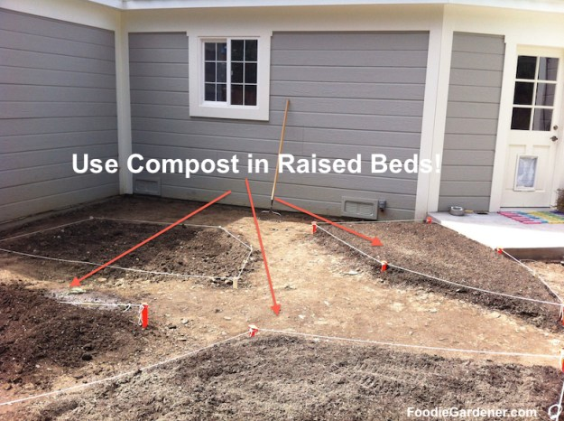 Compost in raised garden beds foodie gardener