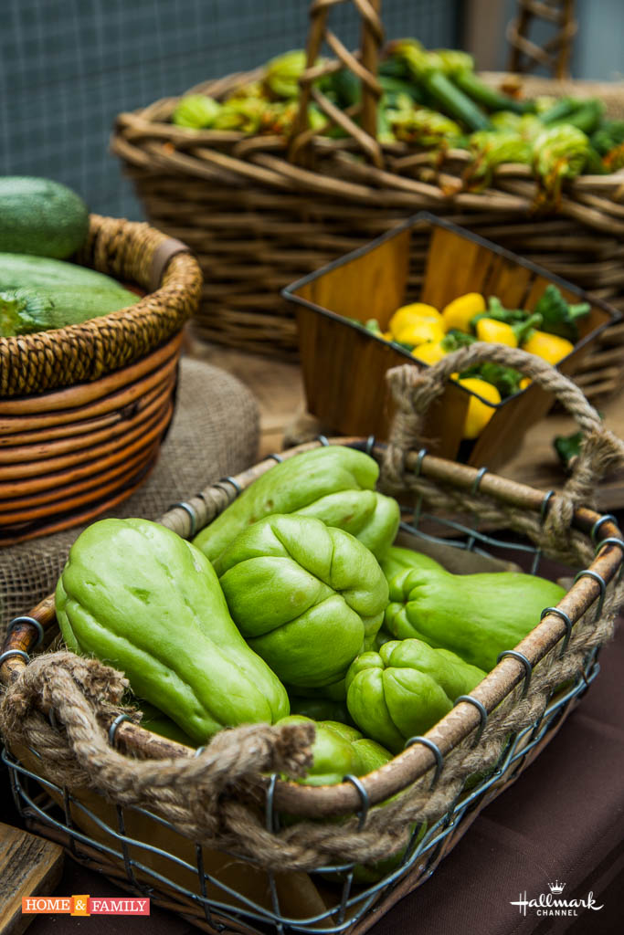 chayote-squash-organic-zucchini-baby-squash-baskets-foodie-gardener-shirley-bovshow-home-and-family-show-hallmark-channel-how-to-grow