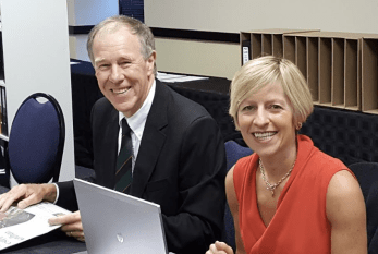 Prof Tim Noakes with Dr Zoe Harcombe