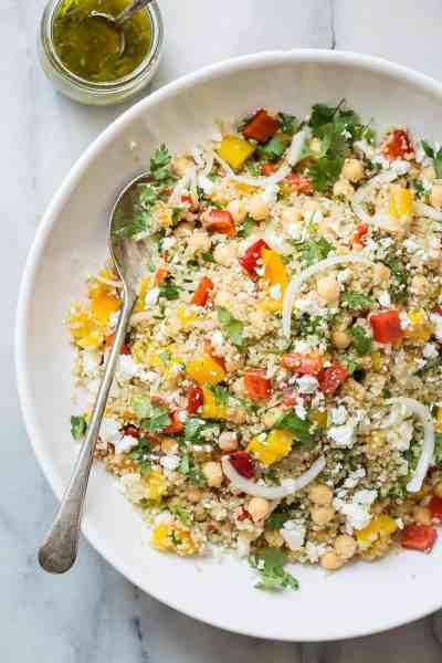 Healthy Quinoa Salad with Feta Cheese