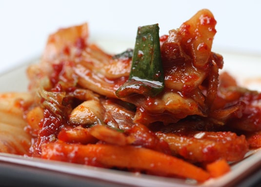 A small kimchi plate.